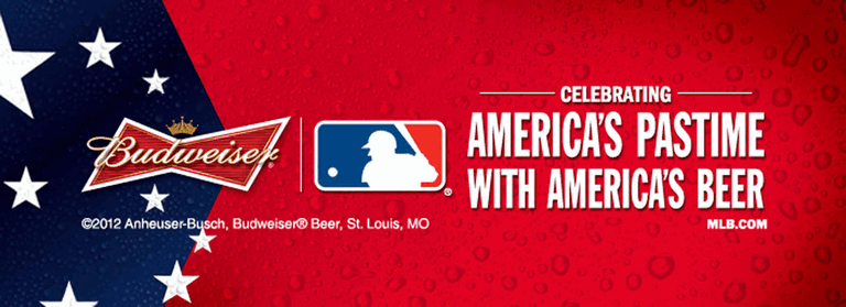 Example of Budweiser's MLB sponsorship from 2012. Image via beerpulse.com