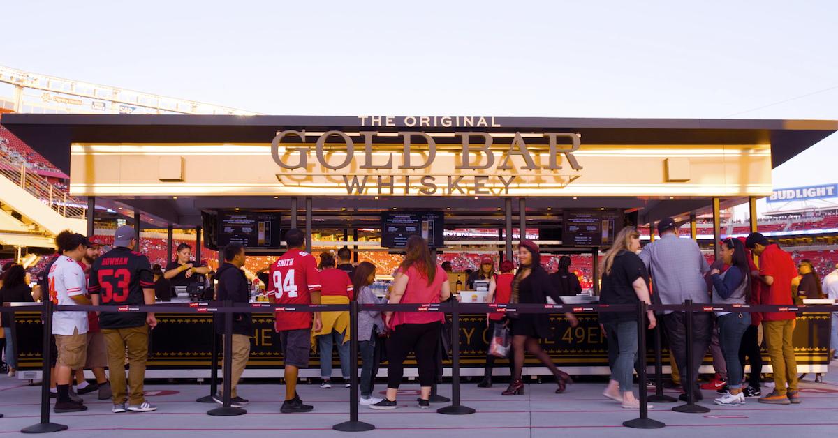 49ers Gold Bar Whiskey