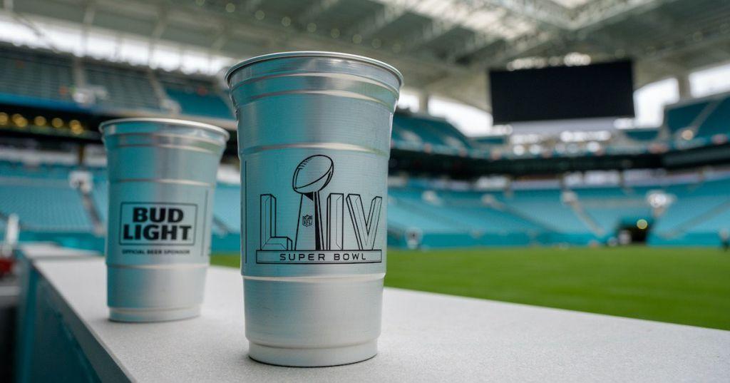 Hard Rock Stadium aluminum cups