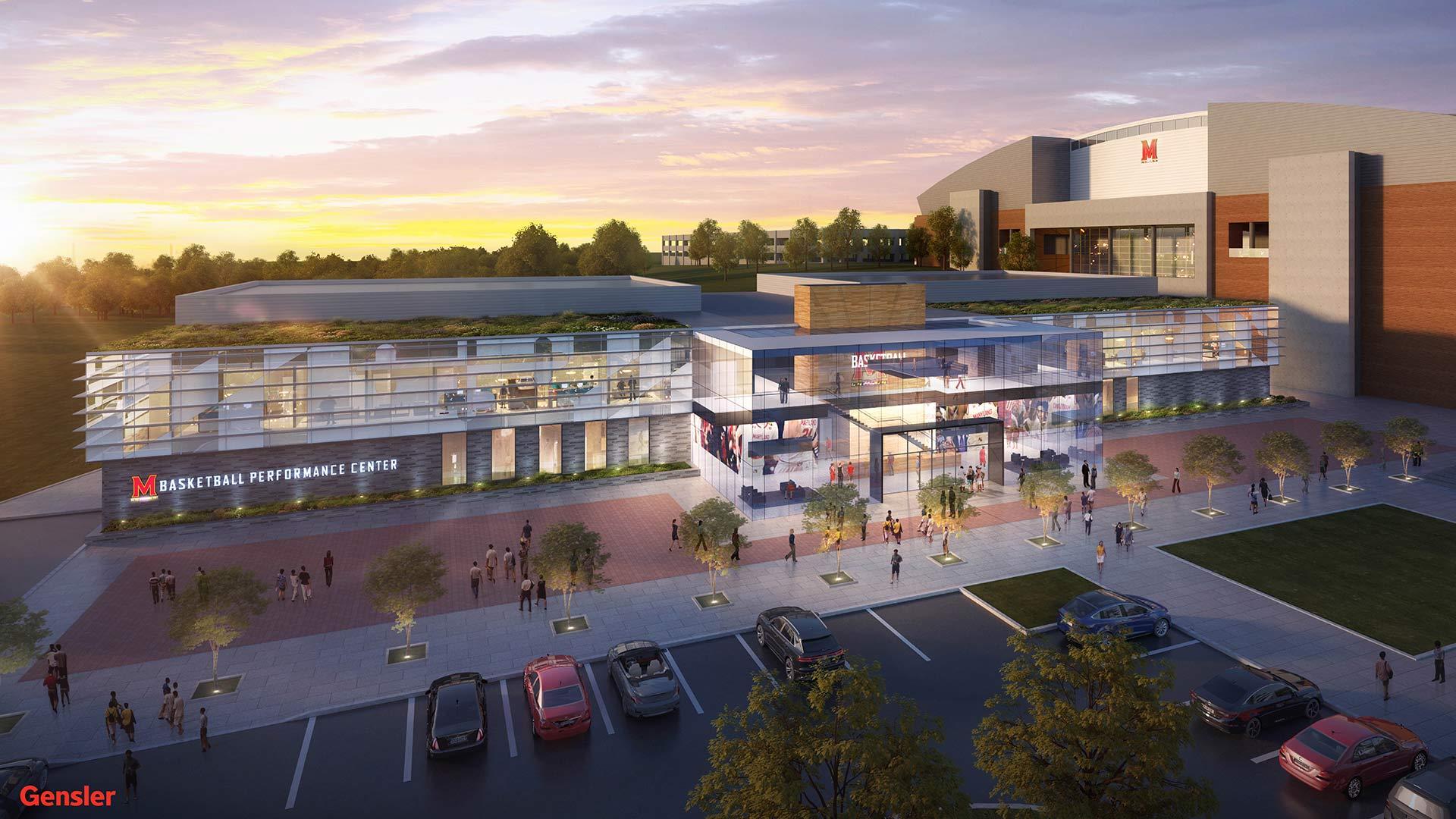 University of Maryland Basketball Performance Center rendering
