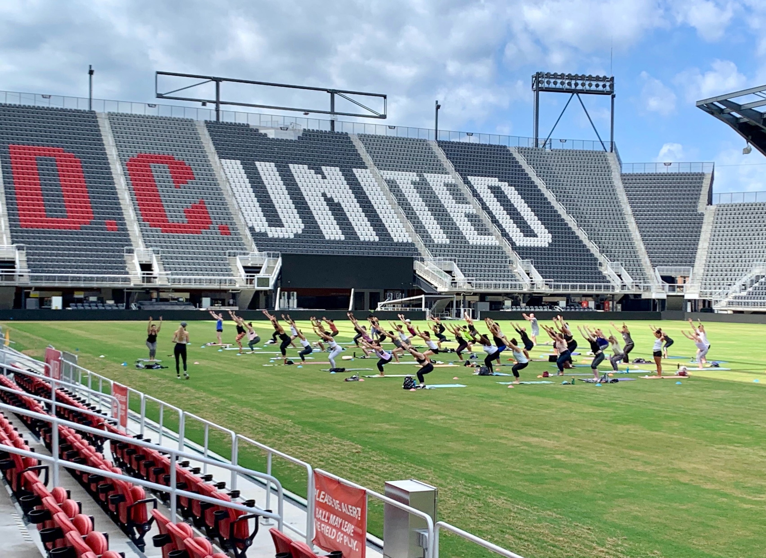 Audi Field welcome group fitness