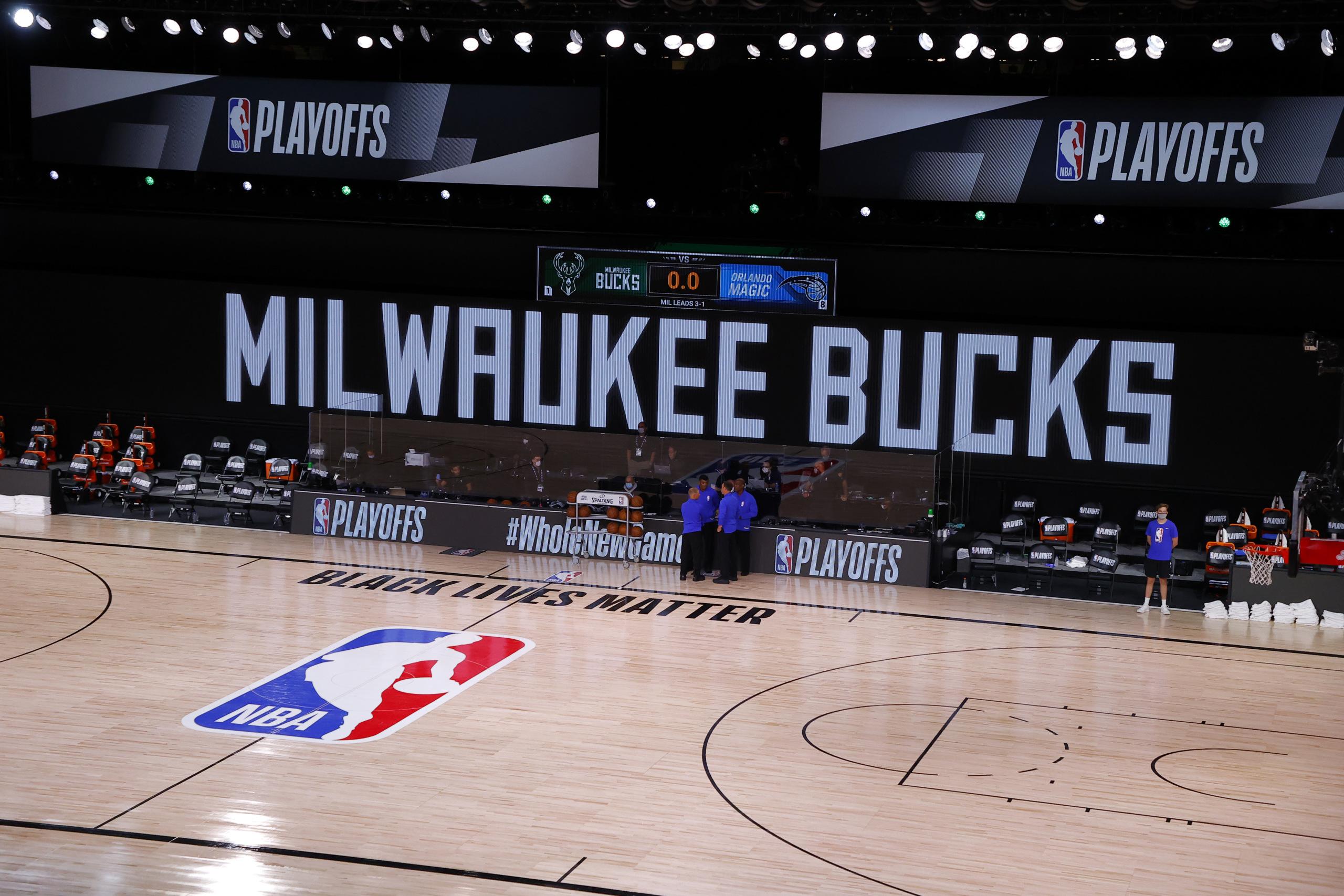 Sparked by Bucks' Strike, Slate of NBA Playoff Games Postponed