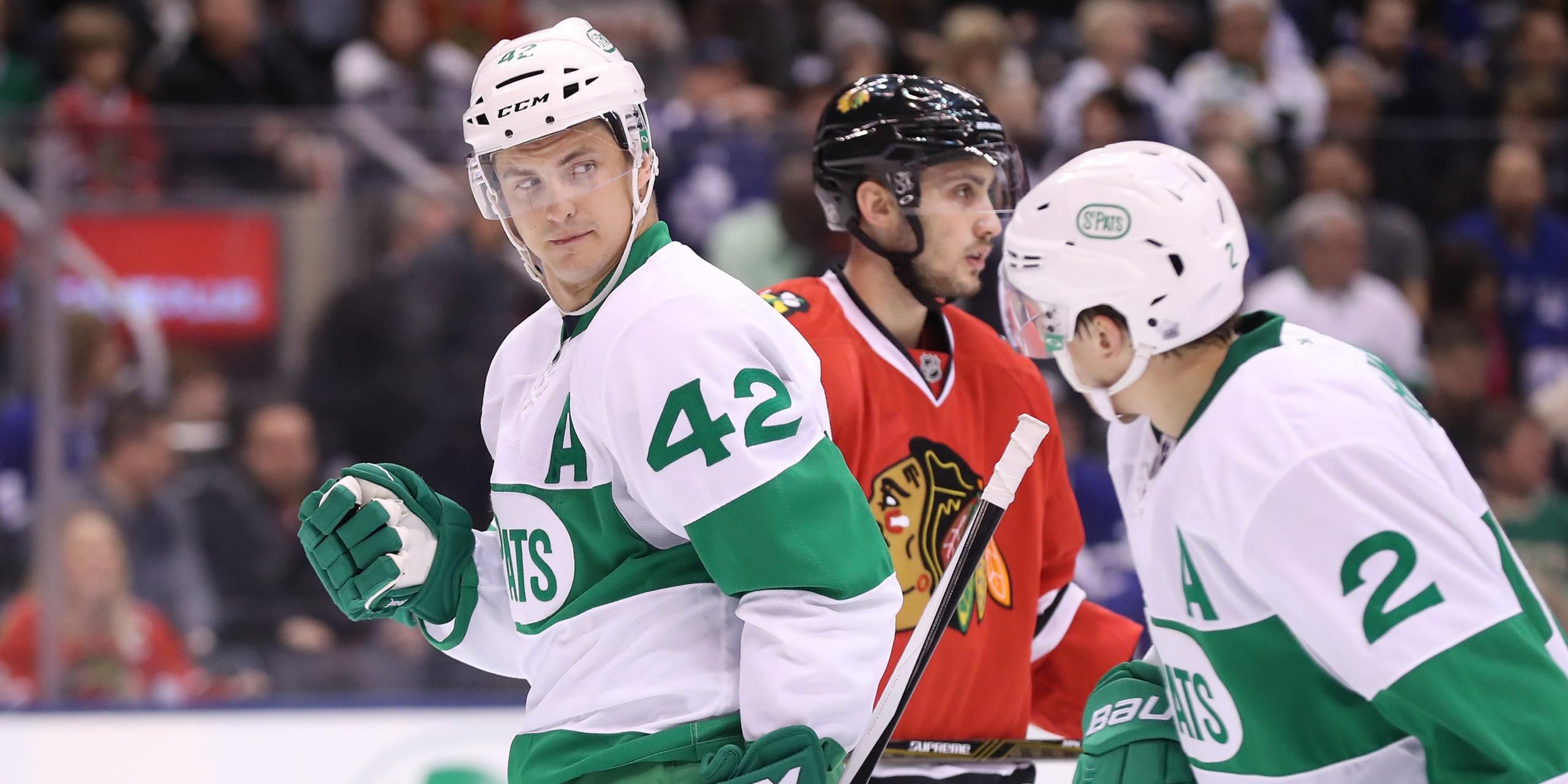 Maple Leafs Green Jerseys